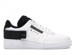 Nike Air Force 1 Low Type White/Black/Volt PS