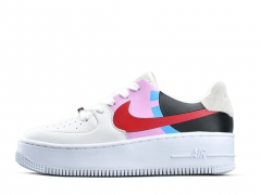 Nike Air Force Low LX White/Black/Pink/Red
