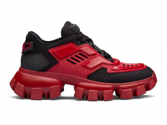 Prada Cloudbust Thunder Sneakers Black/Red