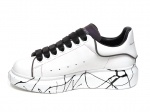 Alexander McQueen Painted Sole White/Black/Reflective PS