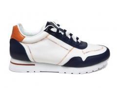 Loro Piana Sneakers Wind Leather White/Navy PS