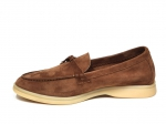 Loro Piana Summer Charms Walk Brown Suede PS