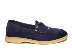 Loro Piana Summer Charms Walk Navy Suede PS