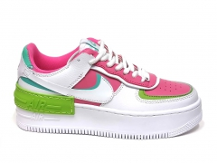 Nike Air Force 1 Low Shadow White/Pink/Green PS
