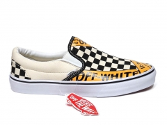 Vans Slip On x Off-White White/Black/Yellow PS