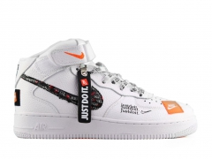 "Nike Air Force 1 Mid ""Just Do It"" White"