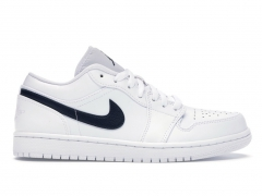 Air Jordan 1 Retro Low White/Obsidian