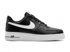 Nike Air Force 1 07 Low Black/White Midsole