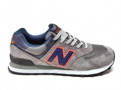 New Balance 574 Grey/Navy/Orange PS