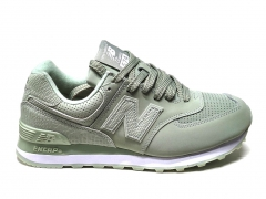 New Balance 574 Snake Leather Olive PS