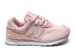 New Balance 574 Snake Leather Pink PS