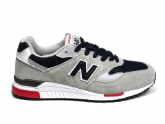 New Balance 840 Light Grey/Black/Red/White PS