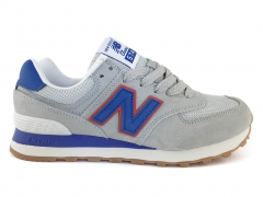 New Balance 574 Light Grey/Blue