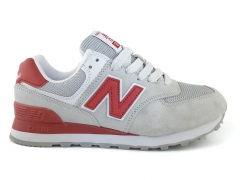 New Balance 574 Light Grey/Red