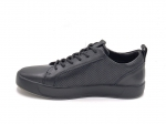 Ecco Soft 8 Leather Low Sneaker Black