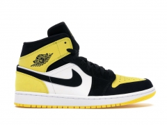 Air Jordan 1 Retro Mid Yellow/Toe Black