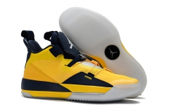 Air Jordan 33 Michigan PE Yellow/Navy