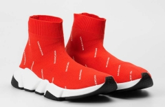 Balenciaga Speed Runner Sock Red Logo-Covered