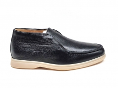 Loro Piana Open Walk Desert Black Leather/Gum