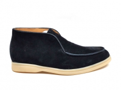 Loro Piana Open Walk Desert Black Suede/Gum