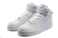 Nike Air Force 1 Mid White (с мехом)