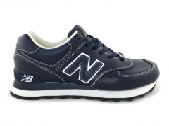 New Balance 574 Leather Navy/White PS