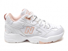 New Balance 608 Leather White/Pink PS