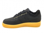 Nike Air Force 1 Low Black/Gum (с мехом)