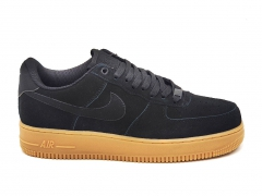 Nike Air Force 1 Low Nubuck Black/Gum
