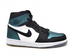 Air Jordan 1 Retro Mid Black/White/Turquoise