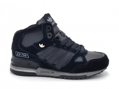 Adidas ZX 750 Mid All Black (натур. мех)