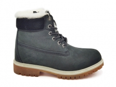 Timberland 6-inch Dark Grey/Black PS (натур. мех)