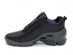 Ecco Biom C Black Leather/Grey (натур. мех)