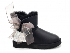 UGG Boot Bling With Bow Black (натур. мех)