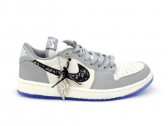 Air Jordan 1 Retro Low x Dior Wolf Grey