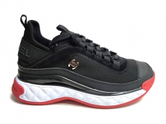 Chanel Cruise Low-Top Sneakers Black/White/Red