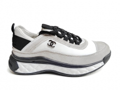 Chanel Cruise Low-Top Sneakers White/Black