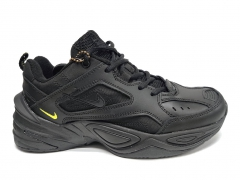 Nike M2k Tekno Black/Yellow Leather