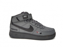 """Nike Air Force 1 Mid Therma Grey/Black """"Just Do It"""""""