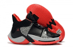 "Air Jordan ""Why Not?"" Zero.2 Black/Cement/Red"