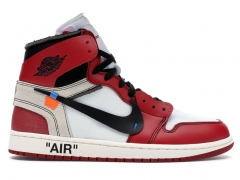 Air Jordan 1 Retro Off-White White/Black/Red