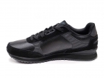 Armani Jeans Sneakers Triple Black Leather