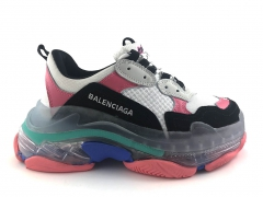 Balenciaga Triple S Clear Sole White/Black/Pink
