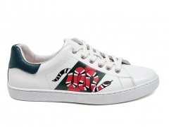 Gucci Ace Snake Sneaker White Leather
