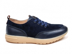 Loro Piana Freetime Walk Leather/Suede Navy LP02