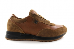 Louis Vuitton Run Away Sneaker Brown Leather