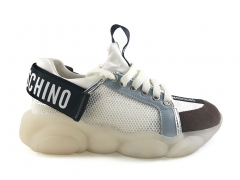 Moschino Teddy Shoes White/Brown/Black