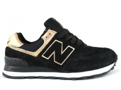 New Balance 574 Black/Gold/Suede