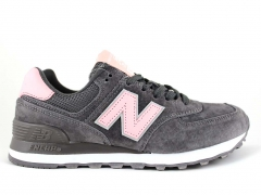 New Balance 574 Grey/Pink/Suede