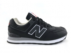 New Balance 574 Black/Grey Leather